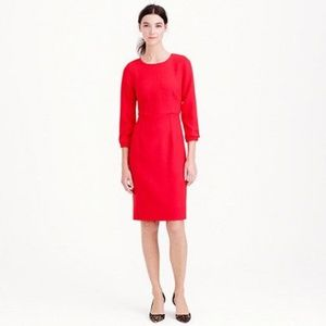 J. Crew Collection Italian Wool Dress Red Sz 4